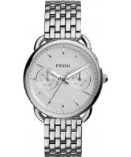 Fossil ES3712 Ladies medida pulseira de relógio de aço de prata
