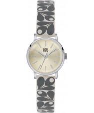 Orla Kiely OK2043 Ladies patricia creme bolota relógio com pulseira de couro de impressão