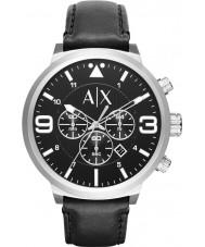 Armani Exchange AX1371 couro preto urbana relógio cinta cronógrafo dos homens