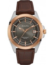 Bulova 98B267 Mens Precisionist relógio de couro marrom