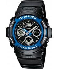 Casio AW-591-2AER Mens g-shock esportes relógio cronógrafo preto