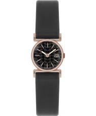 Orla Kiely OK2044 Senhoras cecelia couro preto relógio pulseira