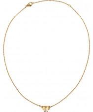 Edblad 31630012 Ladies asas divinas matt banhado a ouro colar curto