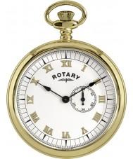 Rotary MP00731-01 Mens banhado a ouro relógio de bolso