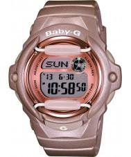 Casio BG-169G-4ER Baby-g Telememo tempo do mundo resina rosa relógio de pulseira