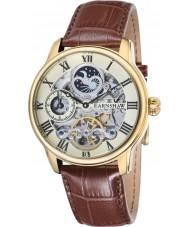 Thomas Earnshaw ES-8006-06 Mens longitude croco marrom relógio de pulseira de couro
