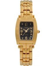 Krug-Baumen 1965DLG Tuxedo ouro pulseira de ouro mostrador preto 4 diamantes