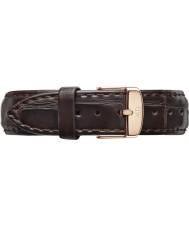 Daniel Wellington DW00200038 Ladies clássico york 36 milímetros aumentou cinta de couro marrom escuro reposição de ouro