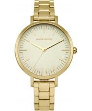 Karen Millen KM126GM Ladies banhado a ouro pulseira relógio