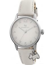 Radley RY2247 As senhoras de grandes dimensões charme cão relógio com pulseira de couro creme