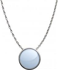 Skagen SKJ0790040 Ladies vidro do mar de aço colar de prata polida