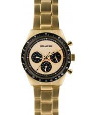 Zadig and Voltaire ZVM129 Gold Master banhado relógio cronógrafo