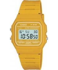 Casio F-91WC-9AEF Mens retro coleção cronógrafo amarelo relógio