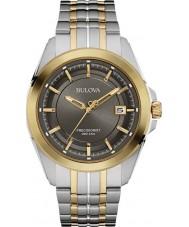 Bulova 98B273 Mens Precisionist dois tons pulseira de aço relógio