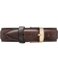 Daniel Wellington DW00200039 Ladies clássico Bristol 36 milímetros subiu de couro marrom pulseira de reposição de ouro