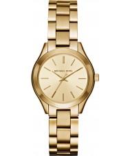 Michael Kors MK3512 Senhoras magro ouro pista banhado relógio pulseira