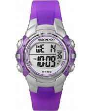 Timex T5K816 Crianças de resina roxo maratona pulseira de relógio