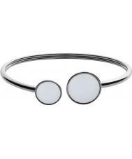 Skagen SKJ0788040 Ladies vidro do mar de aço pulseira de prata polida