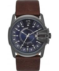 Diesel DZ1618 Mens chefe mestre de couro marrom escuro relógio de pulseira