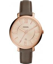 Fossil ES3707 Ladies Jacqueline couro cinza pulseira de relógio