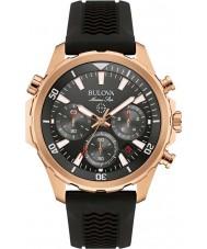 Bulova 97B153 Mens estrela marinha de borracha preta relógio de pulseira de cronógrafo