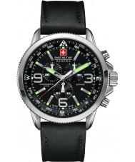 Swiss Military 6-4224-04-007 Mens arrow relógio preto crono