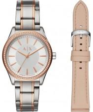 Armani Exchange AX7103 Senhoras vestido relógio dom conjunto