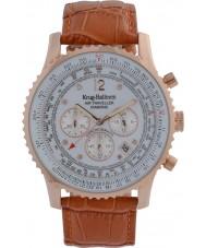 Krug-Baumen 600701DS Mens viajante ar relógio de diamantes