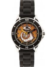 Disney SWM3046 Meninos bb-8 relógio com pulseira de silicone preta