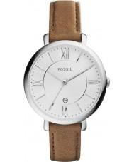 Fossil ES3708 Ladies Jacqueline couro marrom pulseira de relógio