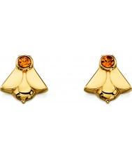Orla Kiely E5227 Ladies ouro chapeado da prata esterlina brincos do parafuso prisioneiro de abelha