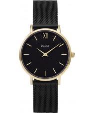 Cluse CL30026 relógio Ladies minuit malha