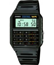 Casio CA-53W-1ER Mens edição limitada de volta para o relógio preto futuro calculadora