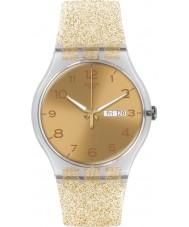 Swatch SUOK704 New gent - golden relógio brilho