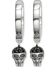 Thomas Sabo CR573-051-11 Senhoras crânio de prata articulada brincos de argola