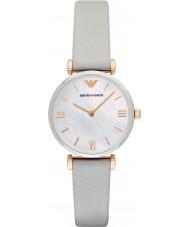 Emporio Armani AR1965 Senhoras vestido cinza relógio de pulseira de couro