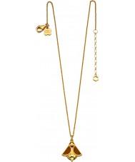 Orla Kiely N4037 Ladies ouro prata esterlina colar banhado a abelha