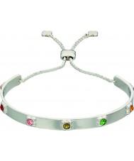 Orla Kiely B4850 Ladies pulseira de flor de prata com detalhes swarovski
