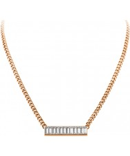 Dyrberg Kern 339134 Ladies trunca rosa banhado a ouro colar com SWAROVSKI ELEMENTS