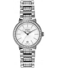 Rotary LB90081-02L Ladies les originales relógio de prata