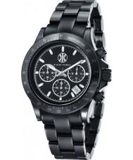 Klaus Kobec KK-10015-01 Piloto preto relógio cronógrafo de cerâmica