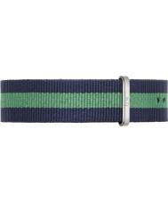 Daniel Wellington DW00200019 Mens clássico Warwick 40 milímetros prata nylon azul e verde pulseira de reposição