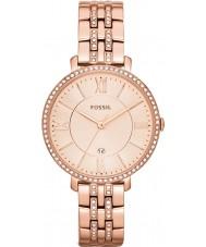 Fossil ES3546 Ladies Jacqueline subiu relógio tom de ouro