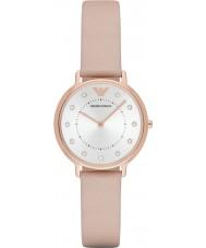 Emporio Armani AR2510 Senhoras vestido leve de couro marrom pulseira de relógio