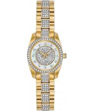 Bulova 98L241 Relógio de cristal feminino