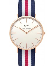 Daniel Wellington DW00100002 Mens clássico 40 milímetros Canterbury subiu relógio de ouro