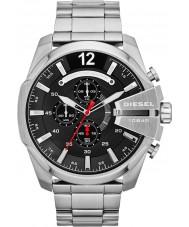 Diesel DZ4308 Mens mega-chefe relógio cronógrafo de aço preto