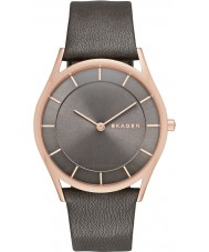 Skagen SKW2346 Senhoras magro Holst couro cinza pulseira de relógio