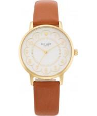 Kate Spade New York 1YRU0835 Ladies metro de couro marrom pulseira de relógio