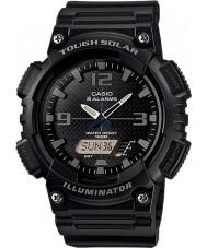 Casio AQ-S810W-1A2VEF Coleção preta dura relógio tempo do mundo solares